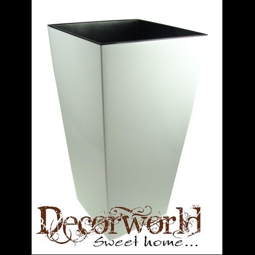 e219405aea Kaspó műanyag magas Finezja 40x40cm M75cm krém - Decorworld - A ...