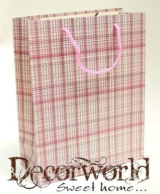 7fb9d85f8b94 Ajándéktasak rózsaszín vékony vonalak 32x25cm - Decorworld - A ...